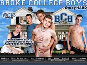 Welcome to Broke College Boys - amateur college guys fuck on camera!