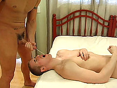 See Spencer in a scene: serving his cock and balls to Mason!